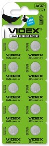 Батарейка Videx AG12/LR43 10шт.