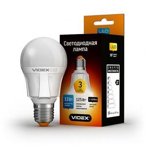 Светодиодная лампа (LED) Videx A60 13W E27 3000K 220V