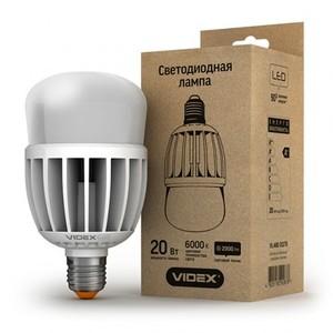 Светодиодная лампа (LED) Videx A80 20W E27 6000K 220V матовая