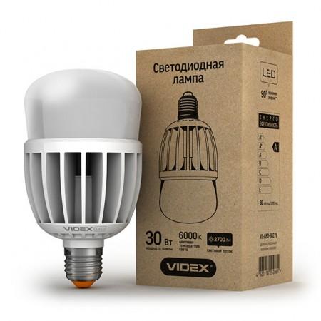 Светодиодная лампа (LED) Videx A80 30W E27 6000K 220V матовая