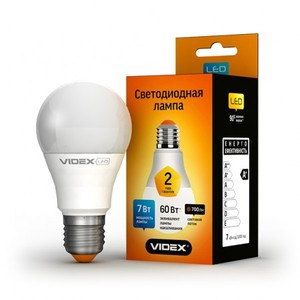 Светодиодная лампа (LED) Videx A60e 7W E27 3000K 220V