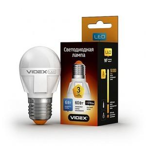 Светодиодная лампа (LED) Videx G45 6W E27 3000K 220V