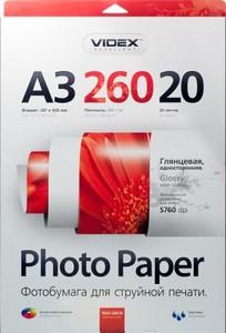 Фотобумага Videx глянцевая А3 260г/м2 20л