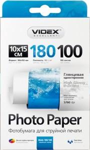 Фотобумага Videx глянцевая А6 180г/м2 100л
