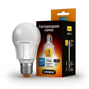 Светодиодная лампа (LED) Videx A60 10W E27 4100K 220V
