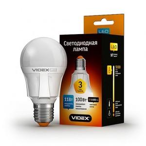 Светодиодная лампа (LED) Videx A60 11W E27 4100K 220V