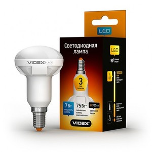 Светодиодная лампа (LED) Videx R50 7W E14 4100K 220V