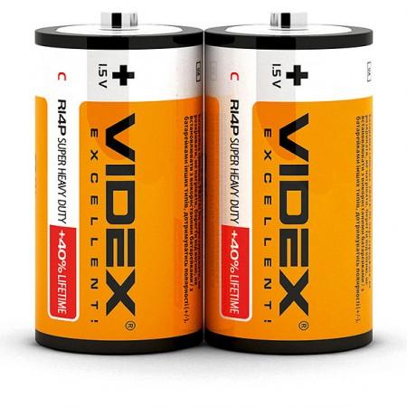 Батарейка солевая Videx R14P/C 2 шт. SHRINK