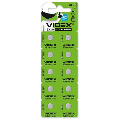 Батарейка Videx AG2/LR726 10шт.
