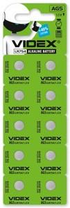 Батарейка Videx AG5/LR754 10шт.
