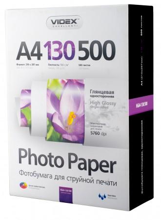 Фотобумага Videx глянцевая А4 130г/м2 500л