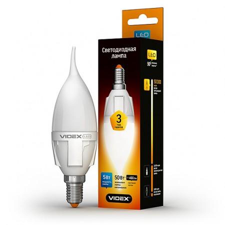 Светодиодная лампа (LED) Videx C37t 5W E14 3000K 220V