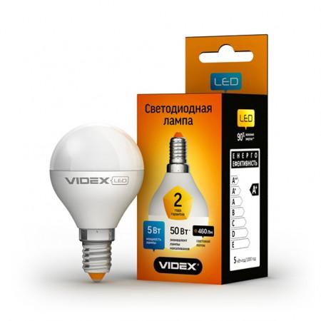Светодиодная лампа (LED) Videx G45e 5W E14 3000K 220V
