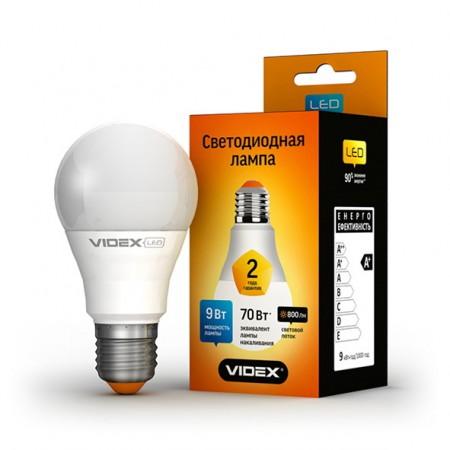 Светодиодная лампа (LED) Videx E27 9W A60e 4100K