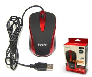 Мышь Havit HV-MS675 USB, red