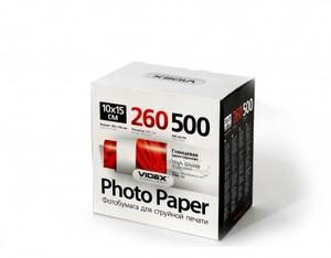 Фотобумага Videx глянцевая А6 260г/м2 500л