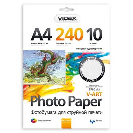 Фотобумага Videx глянцевая фактура чешуя А4 240г/м2 10л
