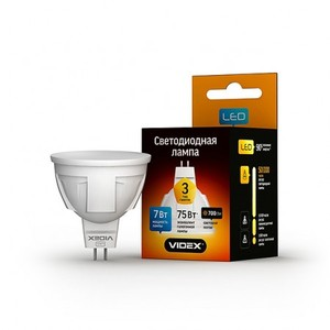 Светодиодная лампа (LED) Videx MR16 7W GU5.3 4100K 220V